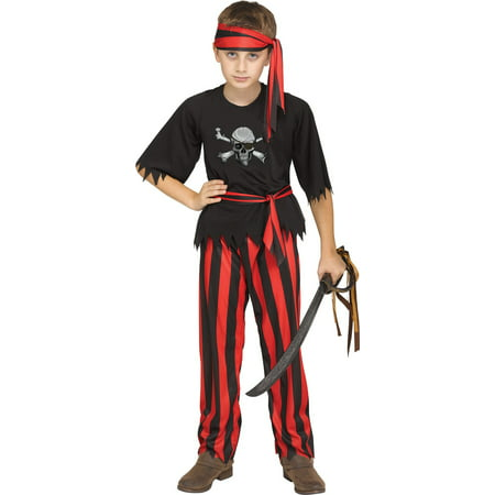 Jolly Roger Boys Child Pirate Buccaneer Halloween Costume](Boys Pirate Costume)