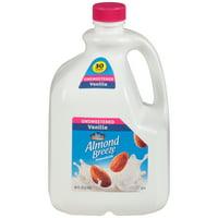 Blue Diamond Almond Breeze Unsweetened Vanilla Almond Milk, 96 Oz.