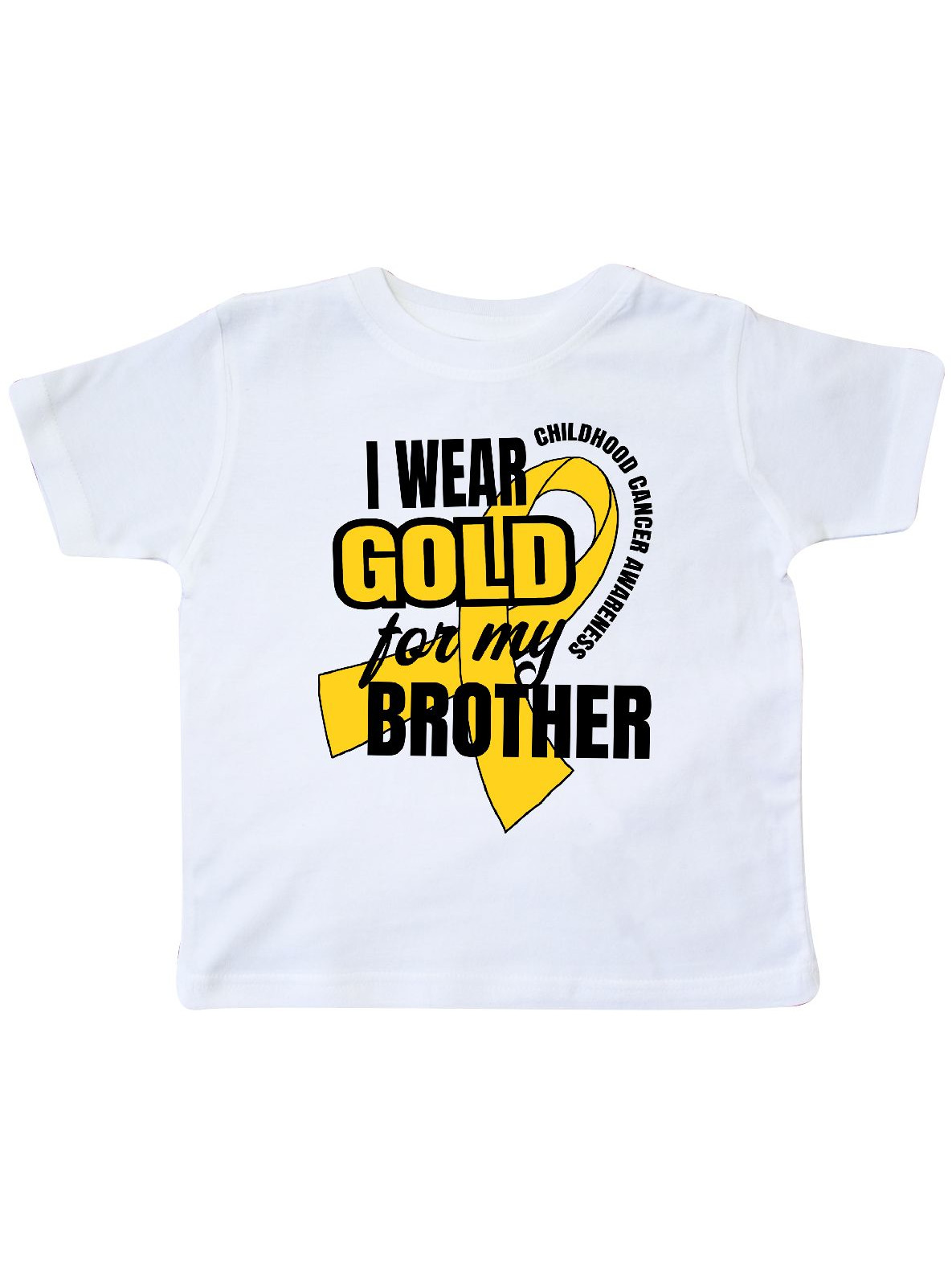 I Wear Gold For My Brother Childhood Cancer Awareness Toddler T-Shirt
