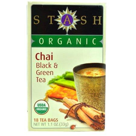 Stash Organic Chai-Noir et thé vert 18 sachets de thé