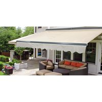 ALEKO 12'x10' Sunshade Half Cassette Motorized Retractable Patio Deck Awning, Multiple Colors
