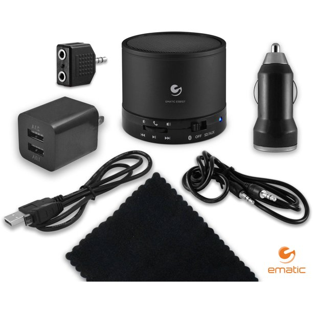 Ematic Tablet Accessory Kit with Bluetooth Speaker