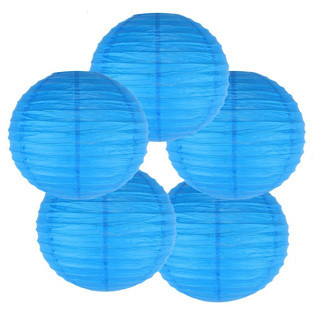 """20"""" (Set of 6 Pcs) Paper Lanterns - Rice Paper Chinese/Japanese Hanging Decorations - For Home Decor, Parties, and Weddings"""