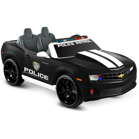 Kid Motorz Chevrolet Racing Camaro Police Edition Two Seater in Black (Steel 2 Seater)