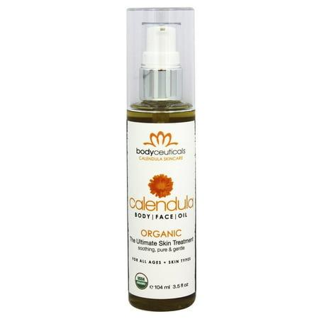 Calendula Body Oil (Bodyceuticals - Organic Calendula Body and Face Oil - 3.3 oz.)
