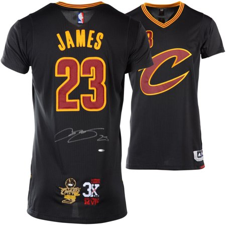 info for 94226 8d921 LeBron James Cleveland Cavaliers Autographed Authentic Adidas Black Jersey  with 3X Finals MVP Patch & 2016 NBA Finals Championship Patch - Upper Deck  ...