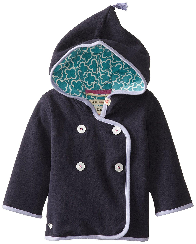 Hatley - Baby Girls Newborn Wrap Hoodies Navy