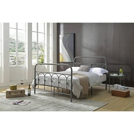 Hodedah Complete Metal Bed, Multiple Sizes, Multiple Colors