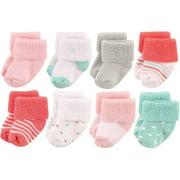 Baby Girls' Newborn Terry Socks 8-Pack