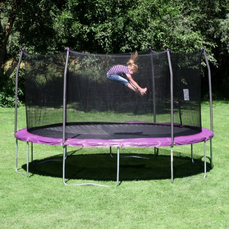 10 FT Trampoline Combo Bounce Jump Safety Enclosure Net W/Spring Pad Ladder