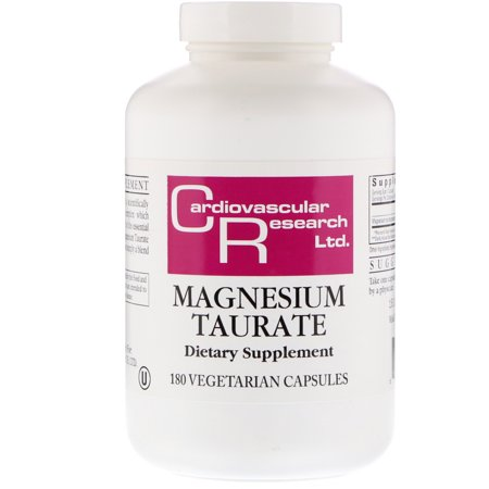 Cardiovascular Research  Magnesium Taurate  180 Vegetarian Capsules - Magnesium Stearate Vegetarian