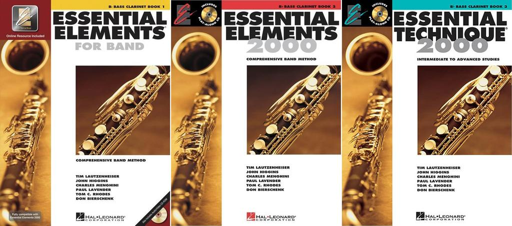 Essential Elements for Band Bb Bass Clarinet, Books 1-3, 3 Book Set, EE BASSCLARINET 3BK by Hal Leonard