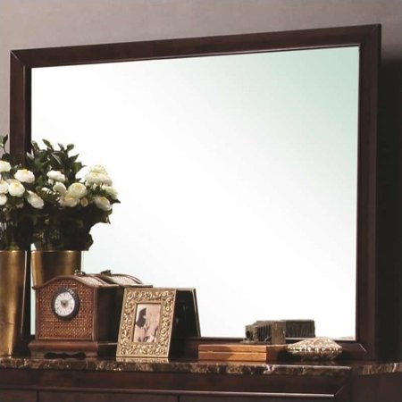 - Coaster Company Conner Mirror, Cappuccino Border