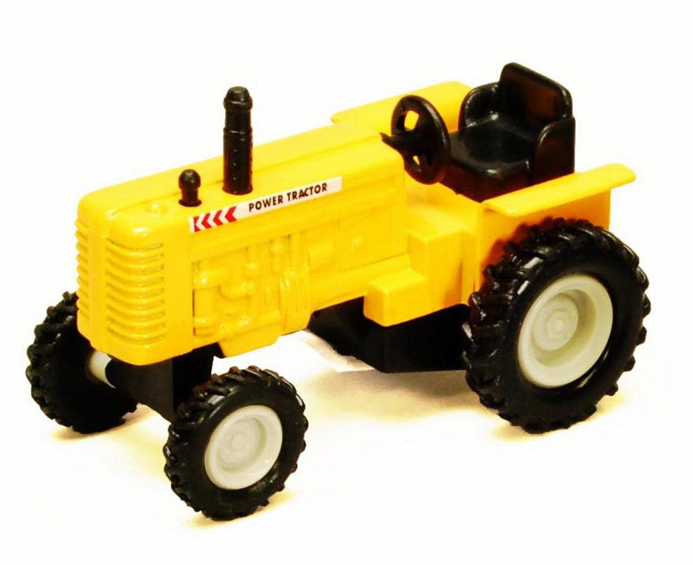 Power Farm Tractor, Yellow Showcasts 2169D 4 Inch Scale Diecast Model Replica (Brand but... by Showcasts