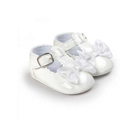 1b9d83b188668 VICOODA Infant Baby Girls Soft Sole Crib Mary Jane Shoes with Bowknot  Non-Slip Princess Light Shoes Toddler First Walkers Shoes