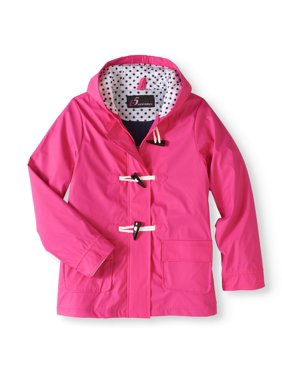 I5 Apparel Kid's Hooded Waxie Toggle Rain Slicker Jacket