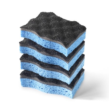 (2 Pack) O-Cedar Heavy Duty Scrunge Scrubber Sponge (Pack of 4)