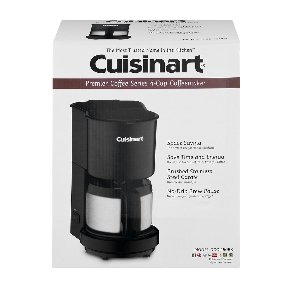 Cuisinart 4 Cup Coffeemaker With Stainless Carafe Dcc 450bk