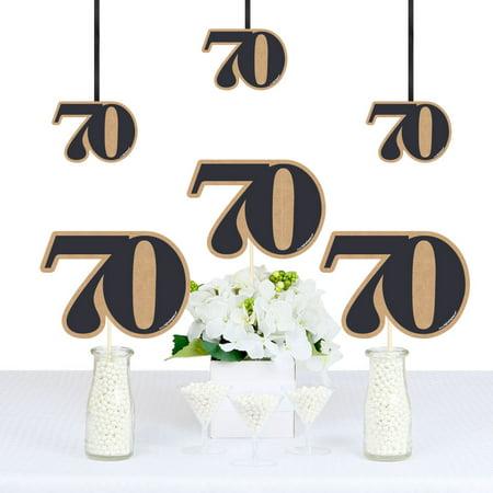 70th Milestone Birthday - Decorations DIY Party Essentials - Set of 20