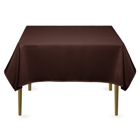 Lann's Linens - Square Premium Tablecloth for Wedding / Banquet / Restaurant - Polyester Fabric Table Cloth (Multiple Colors)](Burgundy Tablecloth)