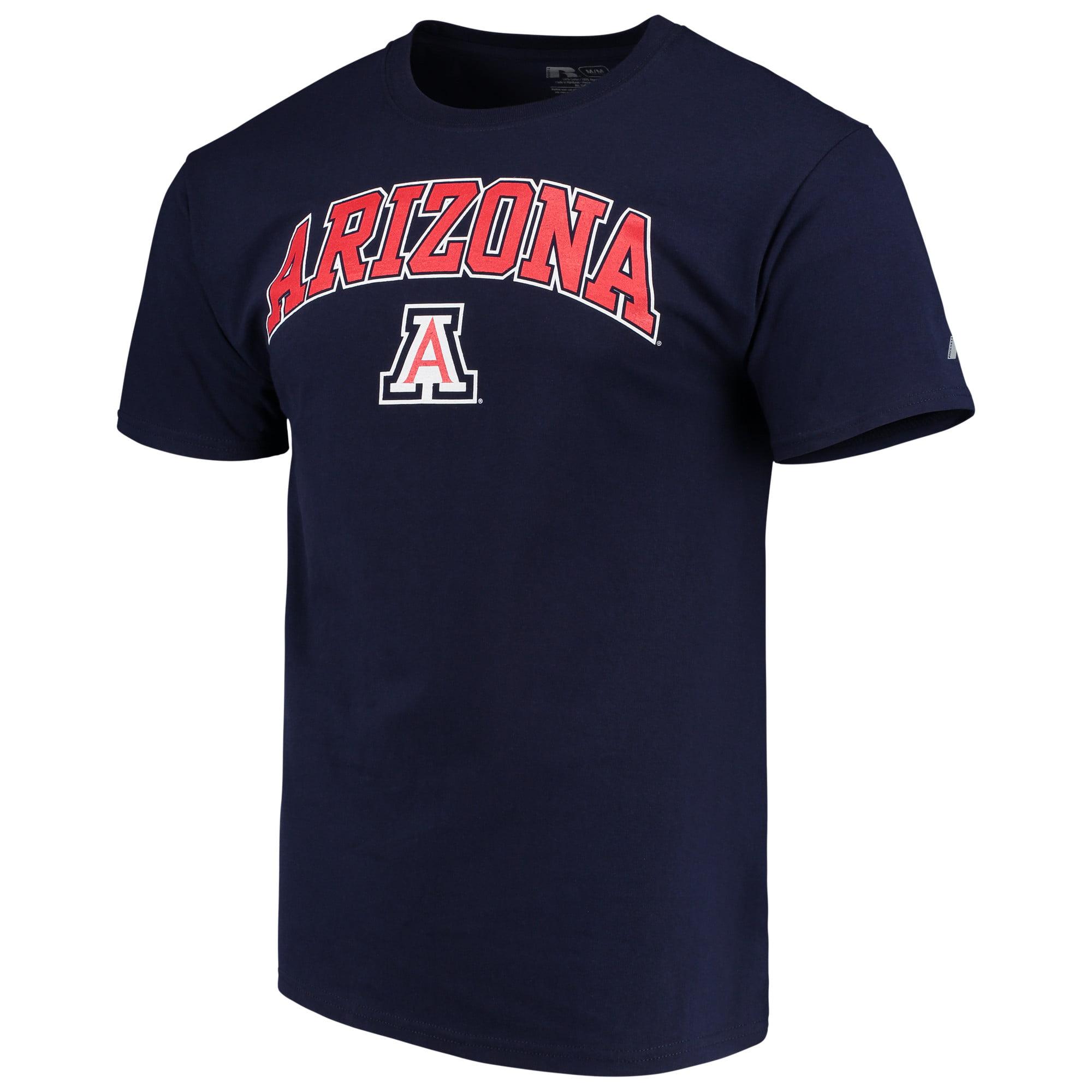 Men's Russell Navy Arizona Wildcats Crew Core Print T-Shirt