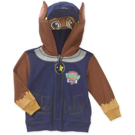 Paw Patrol Chase Costume Zip-up Hoodie Sweatshirt (Toddler - Cat Costume For Toddler Boy