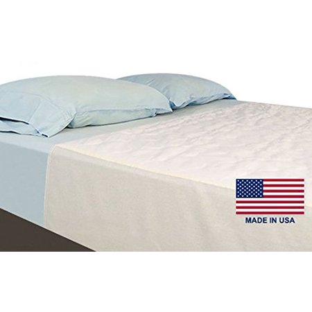 Nobles Washable Waterproof Mattress Sheet Protector Bed Underpad - Large 34 x 36 inches with 18