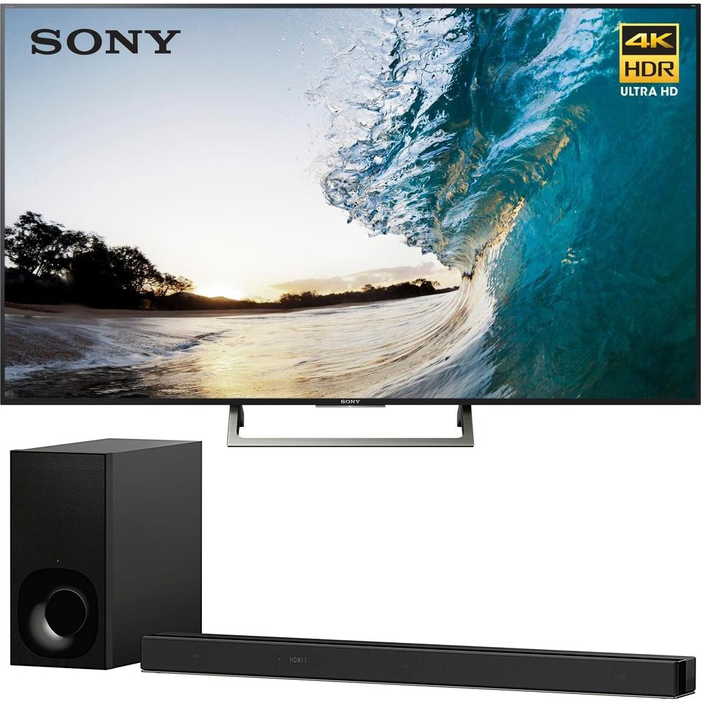 "Sony 75"" Class 4K Ultra HD (2160P) HDR Android Smart LED TV (XBR75X850E) with Sony 3.1ch Soundbar with Dolby Atmos"