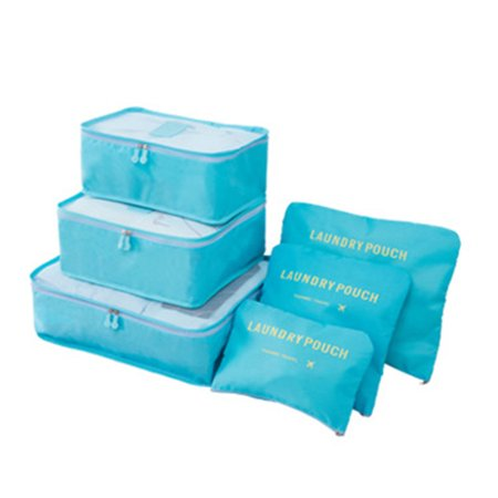 6pcs/Set Storage Bag with Laundry Pouches Portable Clothes Luggage Organizer Container