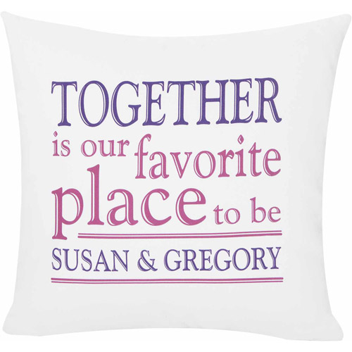 Personalized Together is Our Favorite Place Pillow