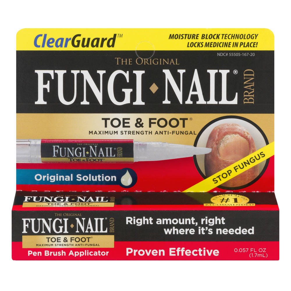 Clear Gaurd The Original Fungi Nail Brand Toe & Foot Pen Brush Applicator, 0.057 FL OZ