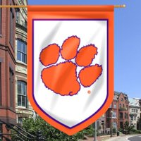 """Clemson Tigers 26"""" x 39"""" Double-Sided Shield Flag"""