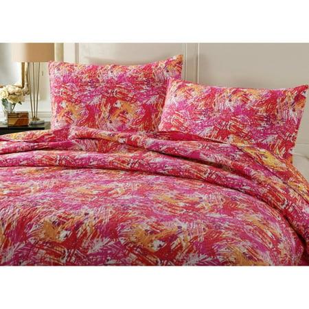 Hawaiian Breeze Quilted Bedspread Set by DaDa Bedding Collection - Hawaiian Print Bedding