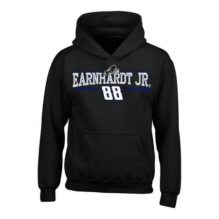 Dale Earnhardt Jr. Youth Driver Name Pullover Hoodie - Black Dale Earnhardt Jr Fleece