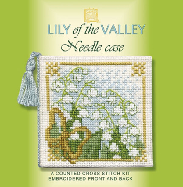 Textile Heritage Needle Case Counted Cross Stitch Kit - Lily of the Valley