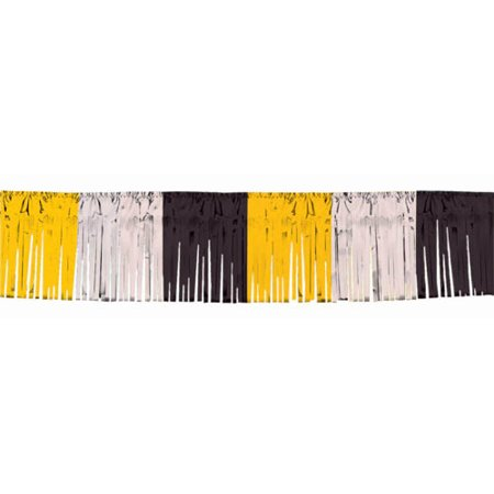 Black Silver & Gold Foil Fringe Garland (20ft)](Fringe Garland)