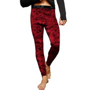 Duofold by Champion Brushed Back Men's Pants (Prints) - Team Red Scarlet Faster Asteroid Camo - 2XL