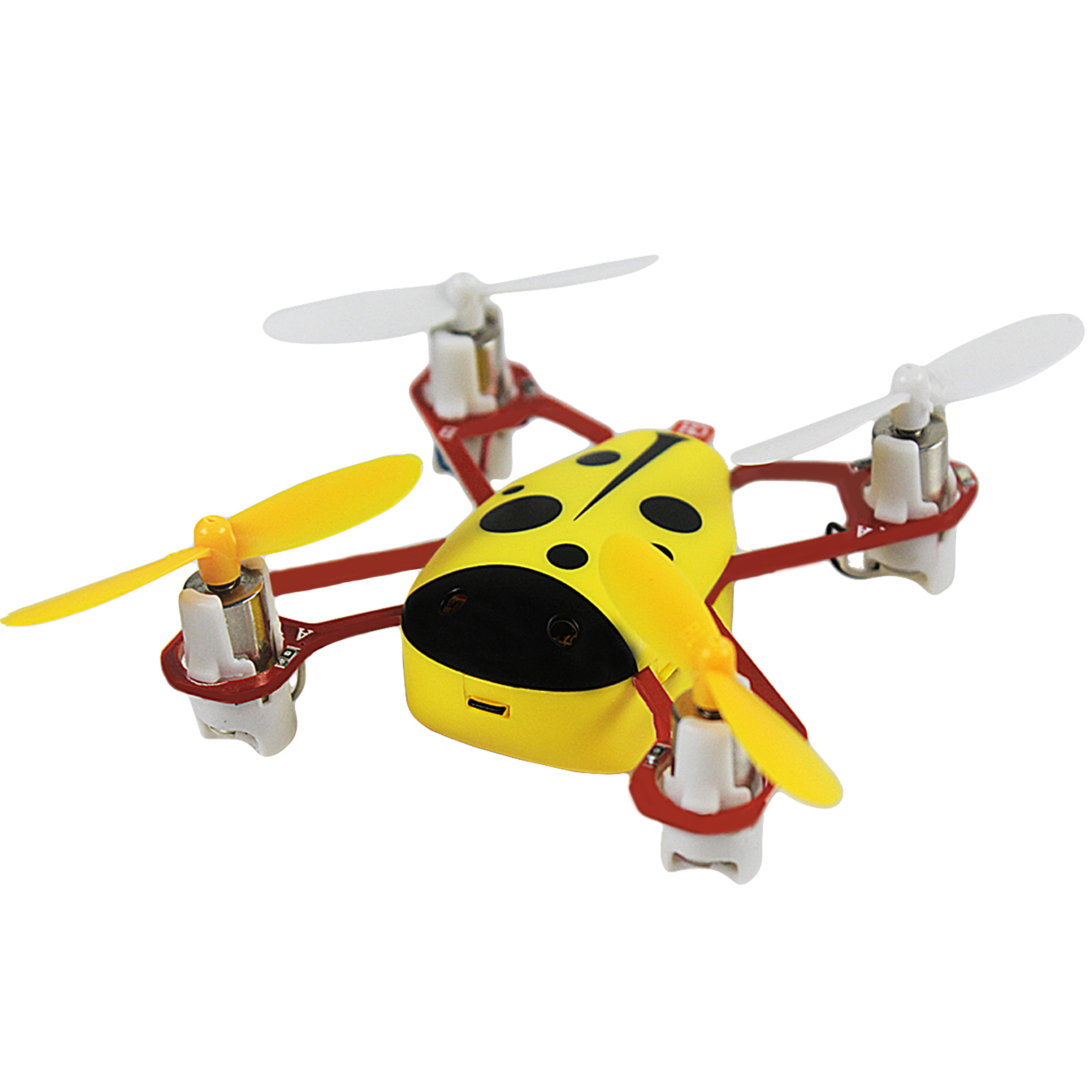 Cheerwing CHEER X1 2.4Ghz 4CH 6-axis Gyro Remote Control Nano Mini 3D Headless RC Quadcopter UFO Drone LCD Screen (Yellow)