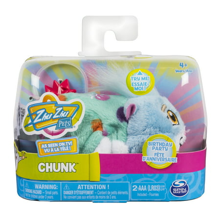 """Zhu Zhu Pets – Birthday Party Chunk 4"""" Hamster Toy with Sound and"""