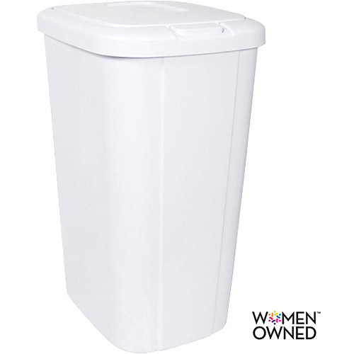 Hefty Touch Lid 13 3 Gallon Trash Can White Walmart
