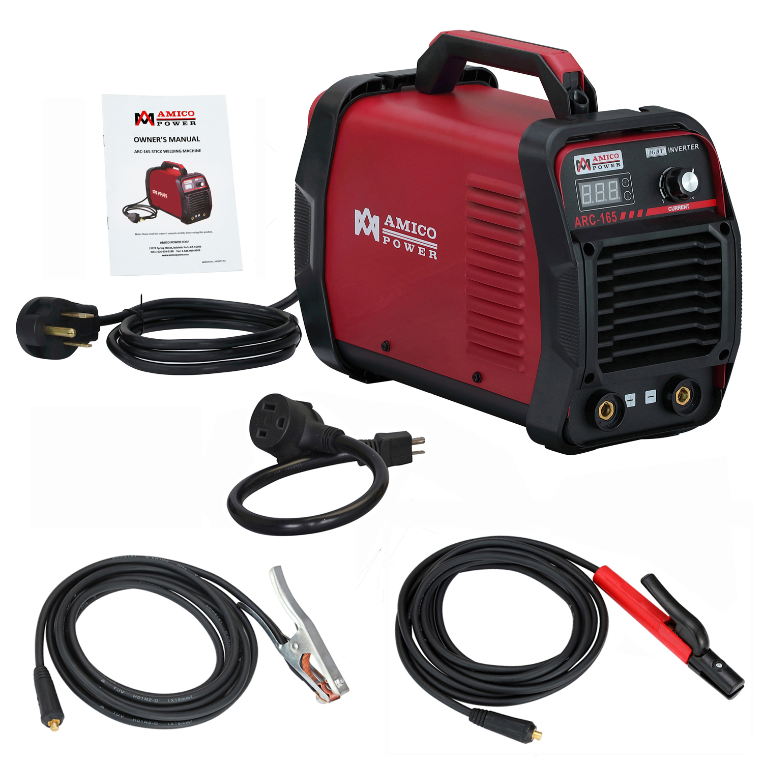 Click here to buy Amico ARC-165, 160 Amp Stick Arc Welder 110 230 Dual Voltage Welding Machine by Amico Power Corp.