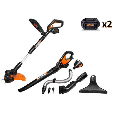 Worx WG924.4 32V MAX Lithium-Ion 2-Piece Outdoor Tool Combo Kit