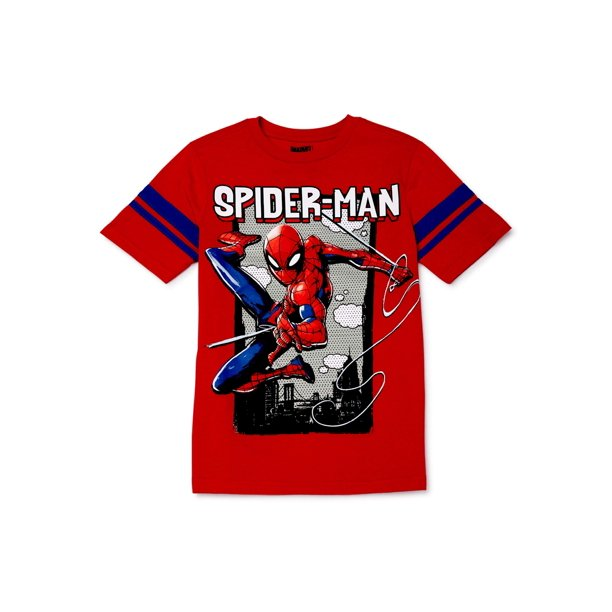 Marvel Spider-Man Boys 4-18 Out Of Frame Graphic Short Sleeve T-Shirt