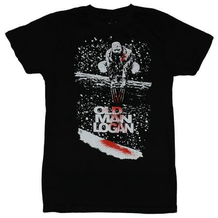 Old Man Logan (Marvel Comics) Mens T-Shirt - Wolverine Bloody Branch Perch 01s Male Branch Tee