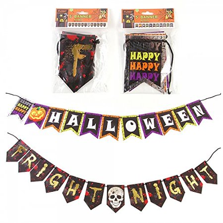 Halloween Metallic/Holographic 5' Party Decor Banners (2 Pack -