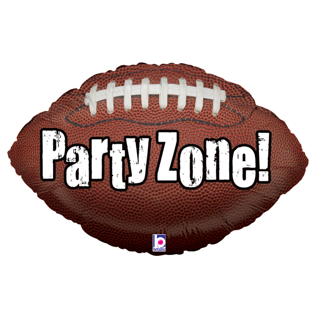 """Party Zone 29"""" Football Super Shape Mylar Foil Balloon 1 EA - Packaged"""