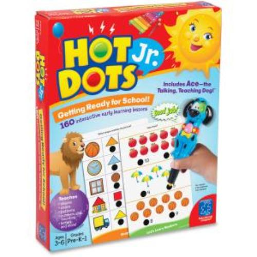 Learning Resources 6106 Hot Dots Jr. Getting Ready For School Set - Theme/subject: Learning - Skill Learning: Color, Letter, Number, Shape (eii-6106)
