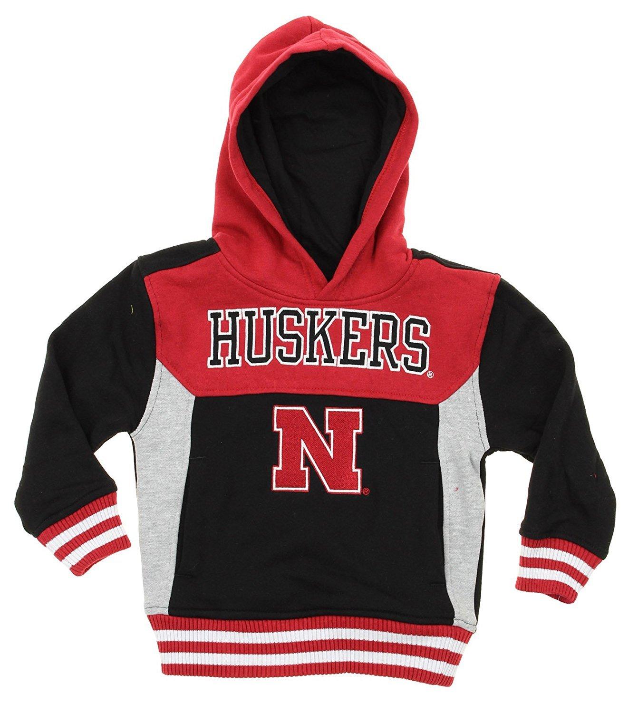 NCAA Kids Nebraska Cornhuskers Throwback Block Hoodie