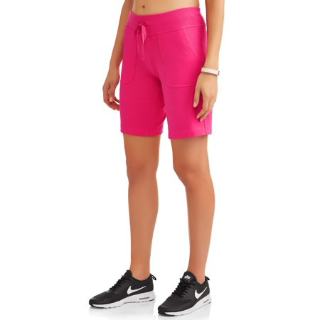 Athletic Works Womens Essential French Terry Bermuda Short
