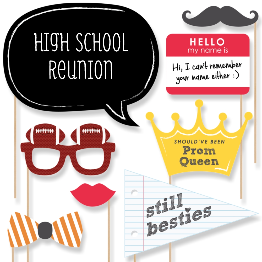 Class Reunion Photo Booth Props Kit 20 Count Walmartcom